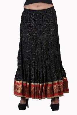 Jaipur Kala Kendra Printed Women's Regular Black Skirt