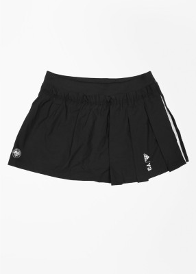 Adidas Solid Women's Pleated Black Skirt