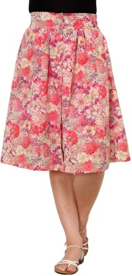 Rvestir Floral Print Women's A-line Multicolor Skirt