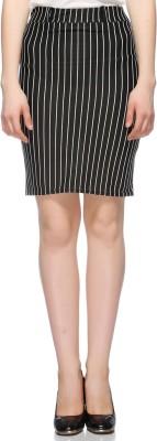 Fasnoya Striped Women's Pencil Blue Skirt