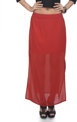 Antilia Femme Solid Women's A-line Red Skirt
