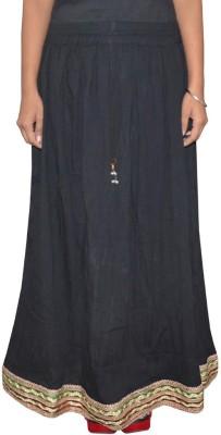 Shreeka Solid Women's Regular Black, Green Skirt