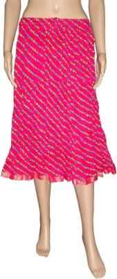 Pinkcityvilla Printed Women's Broomstick Purple Skirt