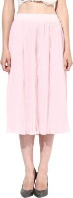 Besiva Solid Women's Wrap Around Pink Skirt