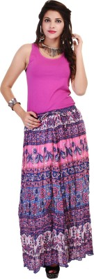 RANGKRIT Self Design Women,s Regular Multicolor Skirt