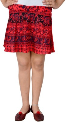 El Sandalo Printed Women's Wrap Around Multicolor Skirt