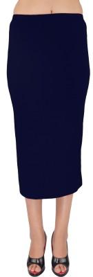SHYIE Solid Women,s Pencil Dark Blue Skirt