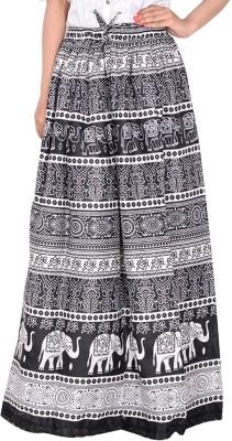 Bright & Shining Animal Print Women's Pencil Black Skirt