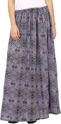 Tops and Tunics Printed Women's Regular Purple, Black Skirt