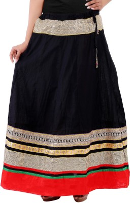 Decot Paradise Solid Women's Regular Black Skirt