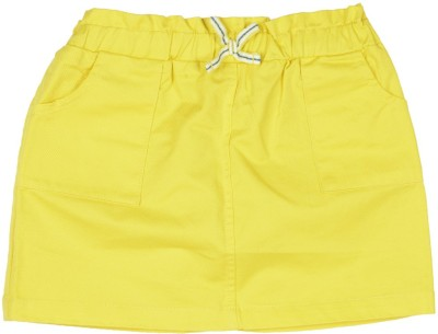 United Colors of Benetton Solid Girls A-line Yellow Skirt at flipkart