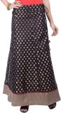 Rene Woven Women's A-line Black Skirt