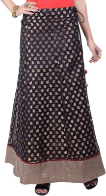 Rene Woven Women's A-line Black Skirt