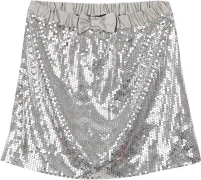 Nautica Solid Girls A-line Grey Skirt at flipkart