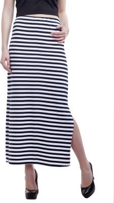 Peptrends Striped Women's Straight Blue Skirt