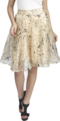 Naitik Printed Women's Regular Gold Skirt