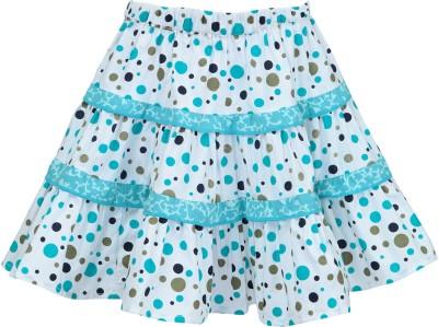 Nino Bambino Polka Print Girl's Gathered Green, White Skirt