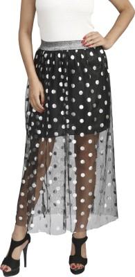 Naitik Printed Women's Regular Black Skirt