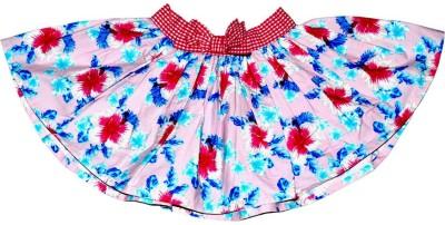 Young Birds Floral Print Girl's Regular Pink Skirt