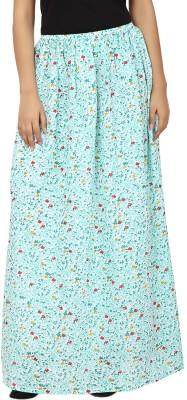 Tops and Tunics Floral Print Women's Regular Light Blue, White Skirt