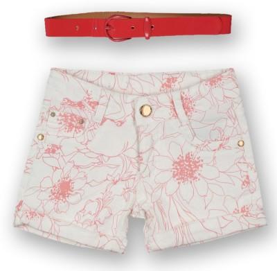 Lilliput Floral Print Girl's A-line Pink Skirt