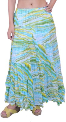 Krazzy Collection Printed Women's Tiered Multicolor Skirt