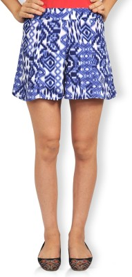 Riot Jeans Geometric Print Women's Regular Blue Skirt