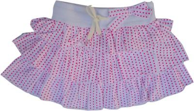 Garlynn Polka Print Girl's Layered White Skirt
