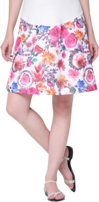 MamaCouture Printed Women's A-line Pink Skirt