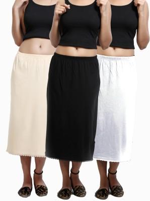 Design Classics Solid Women's Pleated White, Black, Beige Skirt