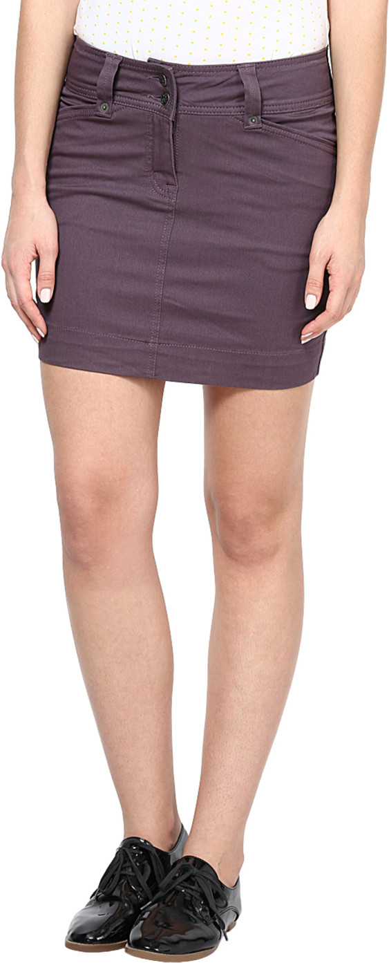 Species Solid Womens Straight Grey Skirt