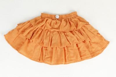 Tillu Pillu Solid Girl's Regular Orange Skirt
