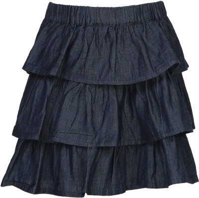 Bells and Whistles Solid Baby Girl's Regular Blue Skirt