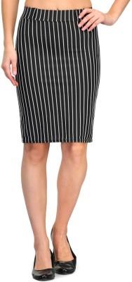 Fasnoya Striped Women's Tube Black Skirt