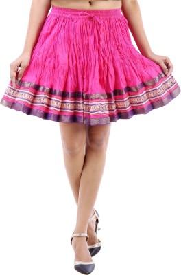 Desert Eshop Solid Women's A-line Pink Skirt