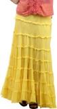 Happy Hangar Solid Women's Tiered Yellow...