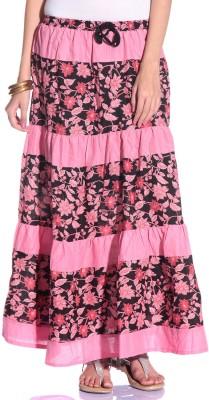 Styleava Printed Women's Regular Pink Skirt