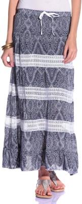 Styleava Printed Women's Regular Black Skirt