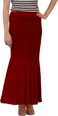 carrol Solid Women's Regular Maroon Skirt