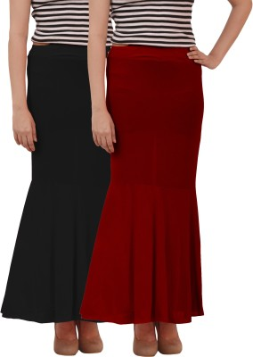 carrol Solid Women's Regular Black, Maroon Skirt