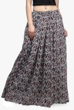 Cation Printed Women's Gathered Multicol...