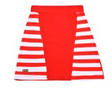 Lil Orchids Striped Girls A-line Red Ski...