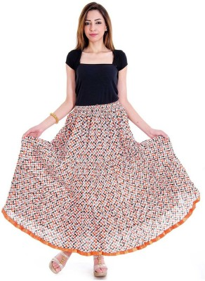 Sunshine Printed Women's Regular Multicolor Skirt