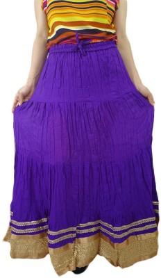 ShopMore Solid Women's Regular Purple Skirt