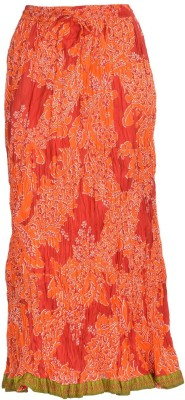 Freedom Daisy Printed Women's Regular Orange Skirt