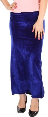 Gwyn Lingerie Solid Women's Straight Blue Skirt