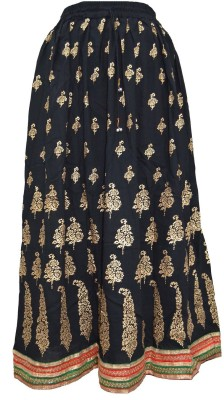 Pms Fashions Floral Print Women's Regular Multicolor Skirt