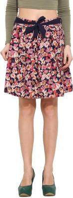 Albely Floral Print Women's Regular Multicolor Skirt