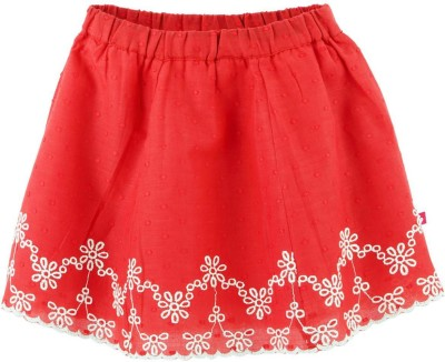 Fisher-Price Embroidered Girl's A-line Red Skirt