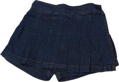 Childkraft Solid Girl's Regular Blue Skirt
